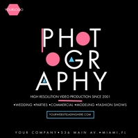 Geometrical Video Production Photography Ad Message Instagram template