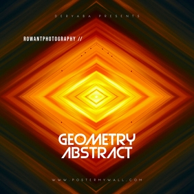 Geometry Abstract CD Cover Art Template