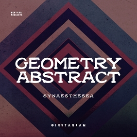 Geometry Abstract CD Cover Template