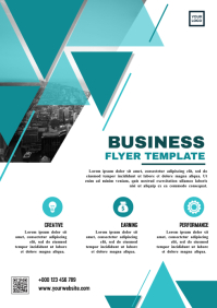 Geometry triangular business flyer A4 template