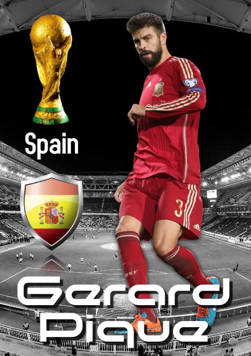 Gerard Pique Poster