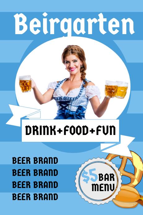 German Beirgarten Bar Flyer