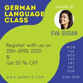 German classes Persegi (1:1) template