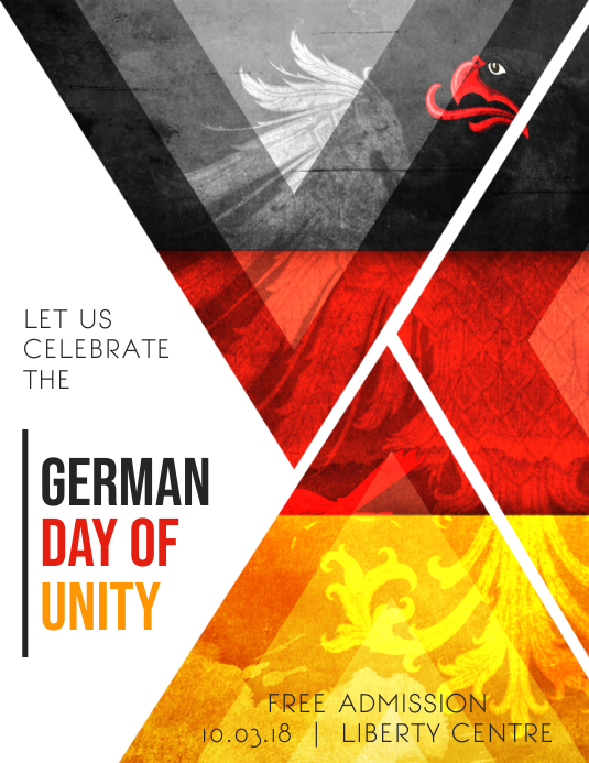 german day of unity creative flyer background template postermywall