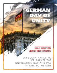 German Day of Unity Rally Leaflet Template