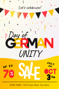 German Day of Unity Retail Poster Template