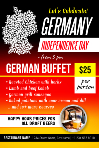 German Independence Day Buffet Event Poster Template