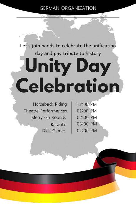 German Unity Day Celebration Poster Template