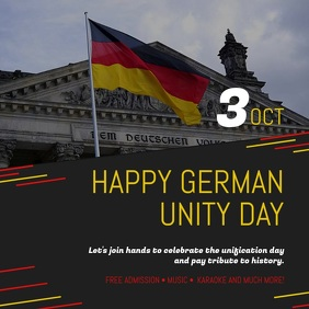 German Unity Day Celebration Square Video