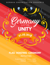 German Unity Day Creative Flyer Template