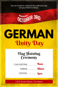 German Unity Day Event Schedule Poster Template