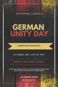German Unity Day Flyer Design TEmplate Poster