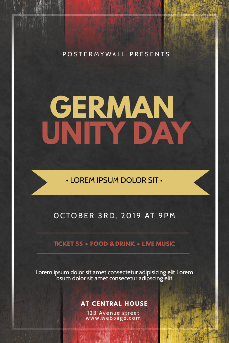 German Unity Day Flyer Design TEmplate