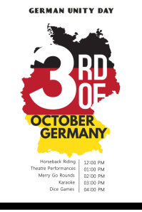 German Unity Day Template