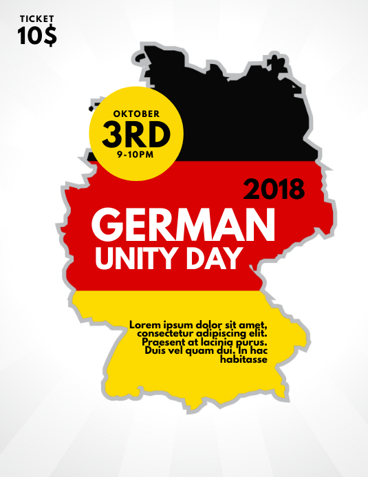 German unity day Flyer Template
