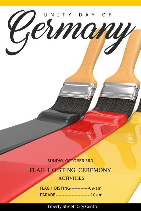 German Unity Day Poster Template