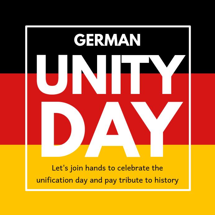 German Unity Day Instagram Template