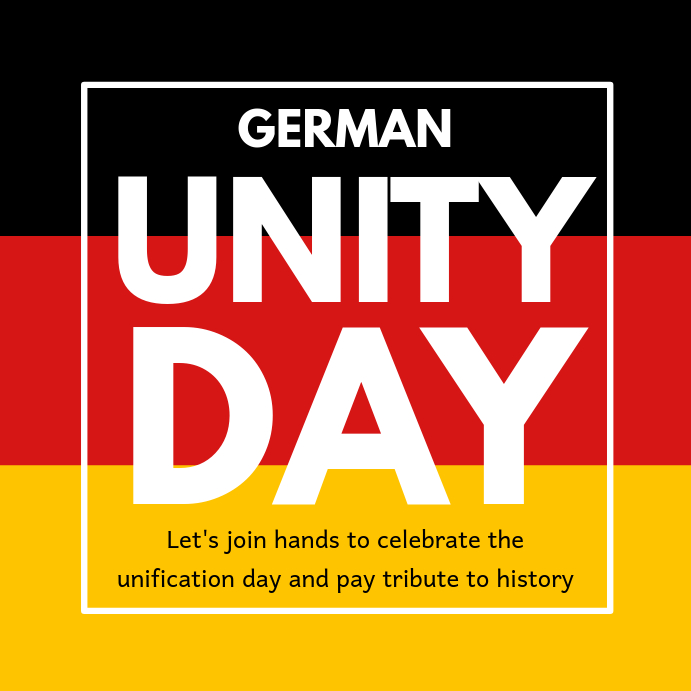 German Unity Day Instagram Template