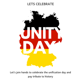 German Unity Day Instagram Post