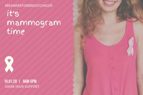 Get a Mammogram Awareness Landscape Poster Template