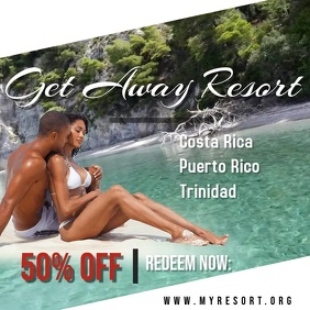 Get Away Resort Quadrado (1:1) template