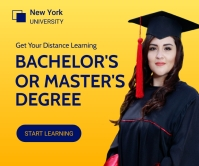 Get Distance Learning Degree Banner 巨型广告 template