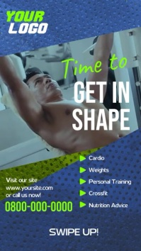 Get in shape fitness workout instagram story Instagram-verhaal template