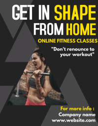 Get in shape from home gym flyer advertisemen
