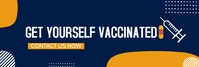 get the vaccination,health Bannière LinkedIn template