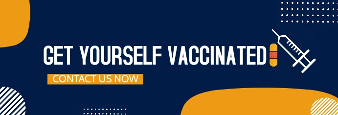 get the vaccination,health Banner di LinkedIn template