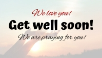 Get well soon card! template