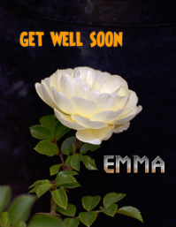 get well soon Flyer (US Letter) template