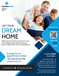 get your dream home flyer advertisement Folheto (US Letter) template