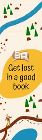 Getting Lost in a Book Bookmark