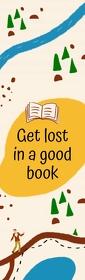 Getting Lost in a Book Bookmark Mezza pagina Legal template