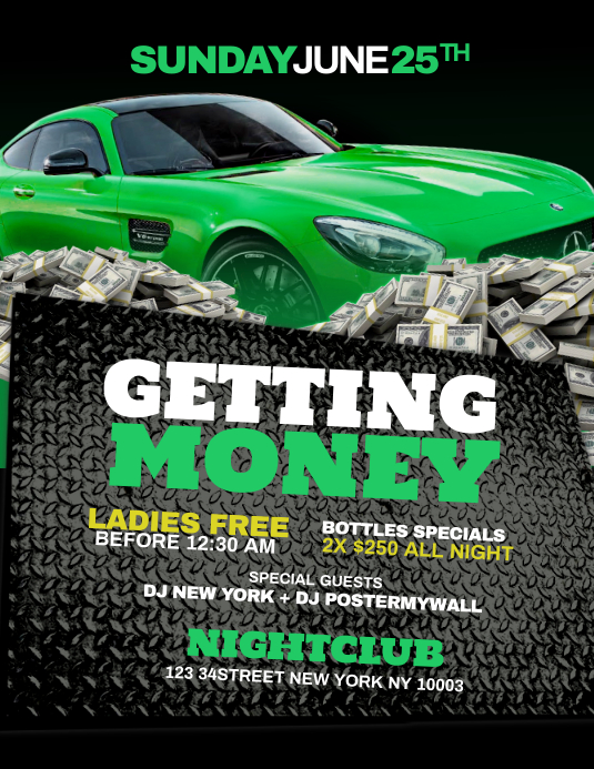 Getting Money Flyer Template