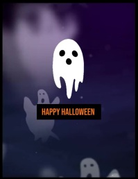Ghost Halloween poster party