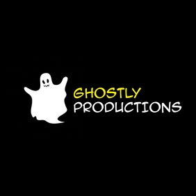 ghost icon logo yellow and black and white co Ilogo template