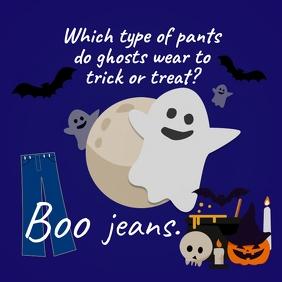 Ghost Pun Halloween Instagram Post template