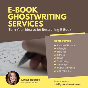 Ghostwriting Services Instagram Post template