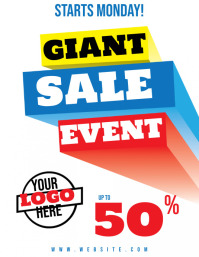 Giant Sale Event Flyer