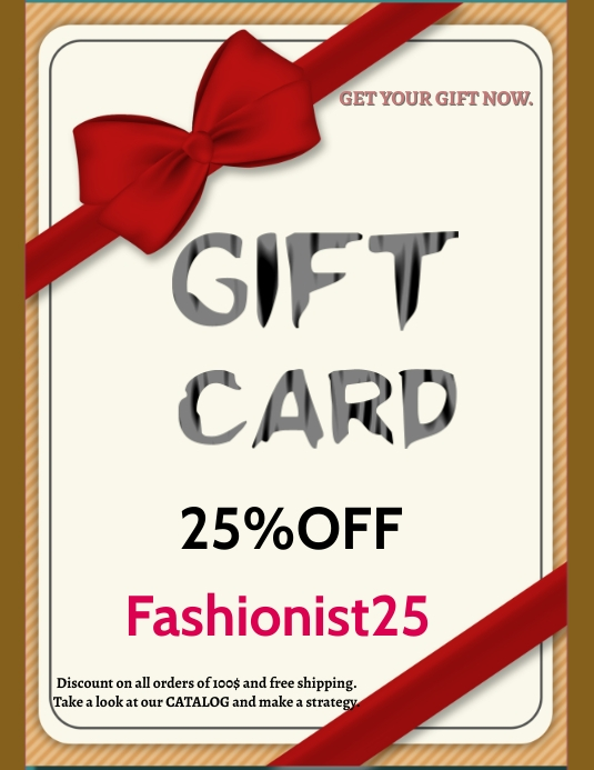 Gift card Flyer (US Letter) template