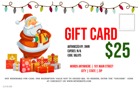 Customizable design templates for gift card template postermywall gift card pronofoot35fo Choice Image