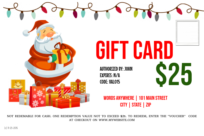 Gift Card Template Postermywall