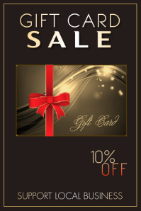 Gift Card Sale Poster template