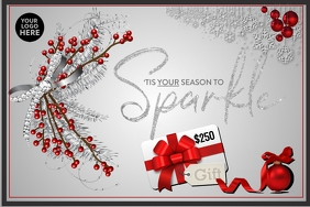 Gift Card Tis your season to sparkle grey