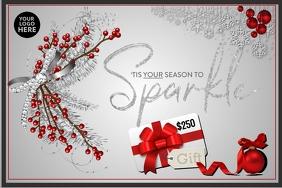 Gift Card Tis your season to sparkle grey