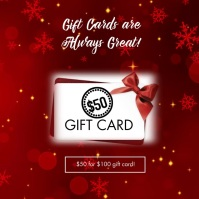 Gift Cards Sale Social Media Ad Instagram Post template