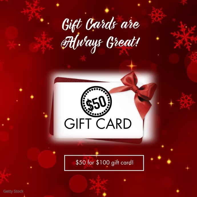Gift Cards Sale Social Media Ad Post Instagram template