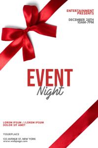Gift celebration opening flyer template Плакат